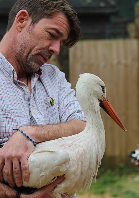 Jamie Craig with White Stork